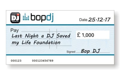 Bop DJ donate £1000 to LNADJ!